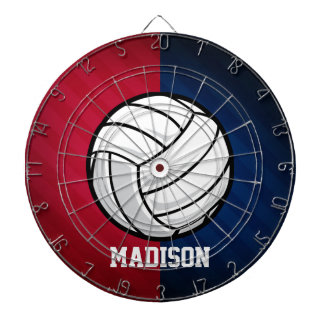 Volleyball; Red, White, and Blue Dartboard With Darts