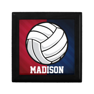 Volleyball; Red, White, and Blue Jewelry Box