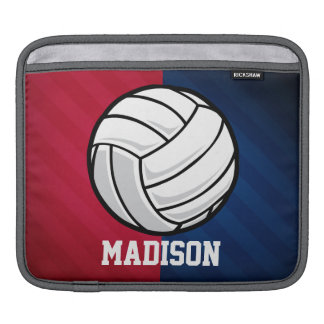 Volleyball; Red, White, and Blue iPad Sleeve