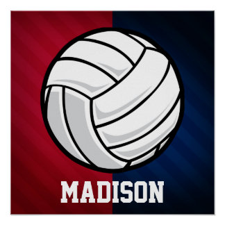 Volleyball; Red, White, and Blue Poster