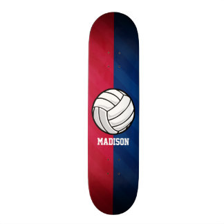 Volleyball; Red, White, and Blue Skateboard