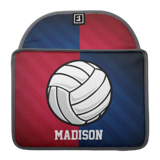 Volleyball; Red, White, and Blue Sleeve For MacBook Pro