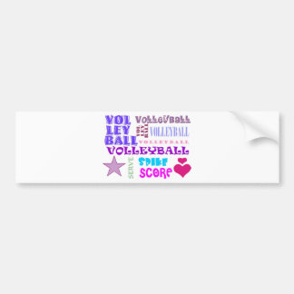 Volleyball Repeating Bumper Sticker