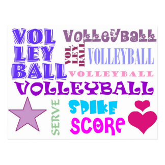 Volleyball Repeating Postcard