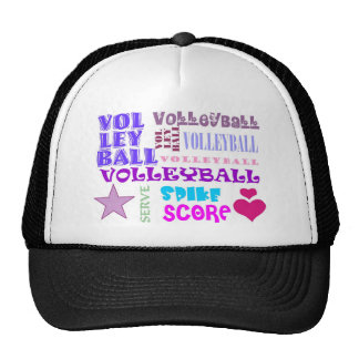 Volleyball Repeating Trucker Hat