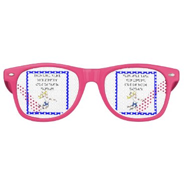 Beach Themed volleyball retro sunglasses