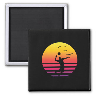 volleyball retro sunset, #volleyball magnet