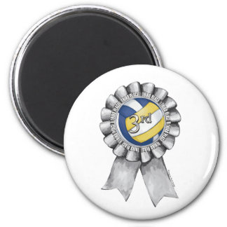 Volleyball Ribbons 3rd 2 Inch Round Magnet