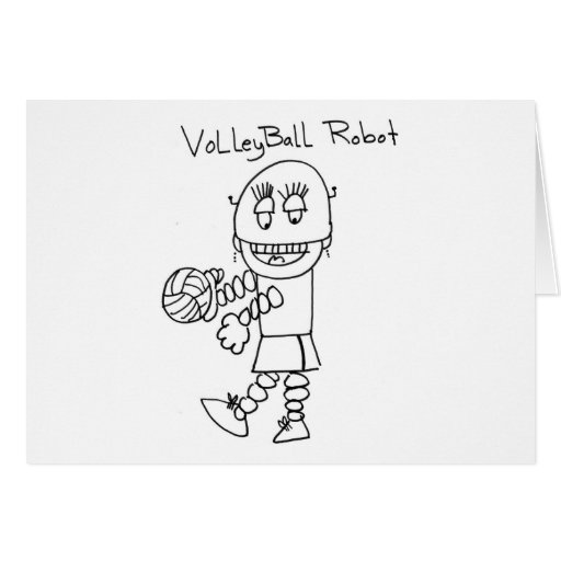 Volleyball Robot Card