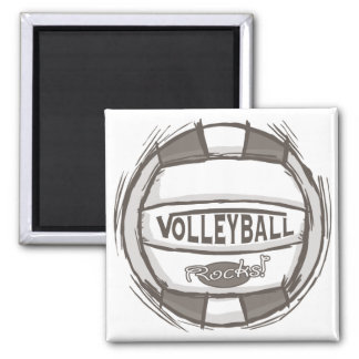 Volleyball Rocks 2 Inch Square Magnet