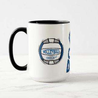 Volleyball Rocks Blue and Silver Mug
