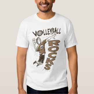 Volleyball Rocks Brown T-Shirt
