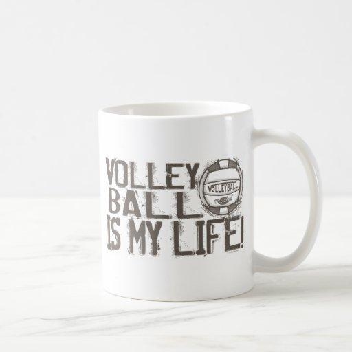 Volleyball Rocks Classic White Coffee Mug