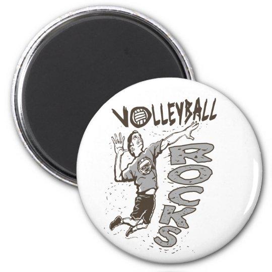 Volleyball Rocks Grey Magnet