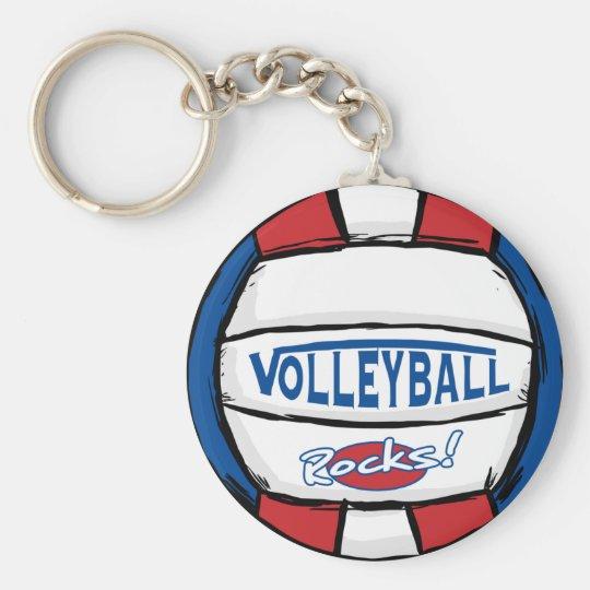 Volleyball Rocks Keychain