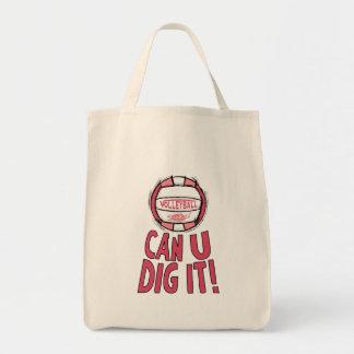 Volleyball Rocks Pink Bag