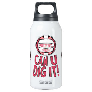 Volleyball Rocks Pink Insulated Water Bottle