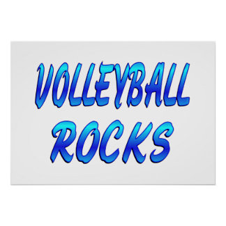 VOLLEYBALL ROCKS POSTER