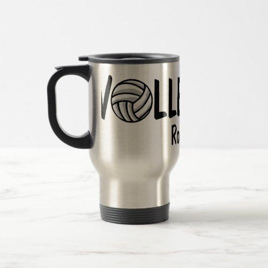 Volleyball Rocks Travel Mug