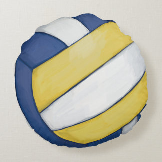 Volleyball Round Pillow
