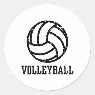 Volleyball Round Sticker