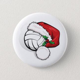 Volleyball Santa Cap Button