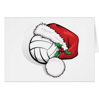Volleyball Santa Cap Greeting Card