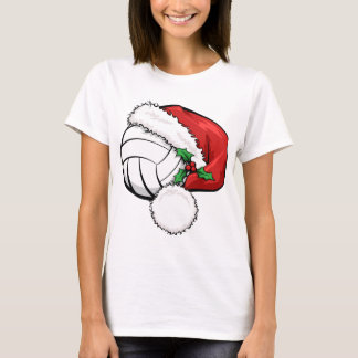 Volleyball Santa Cap T-Shirt