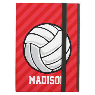 Volleyball; Scarlet Red Stripes Case For iPad Air