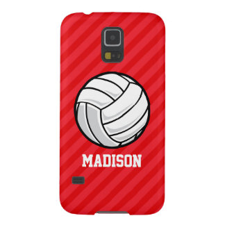 Volleyball; Scarlet Red Stripes Galaxy S5 Case