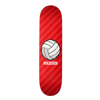 Volleyball; Scarlet Red Stripes Skateboard