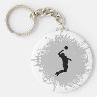 Volleyball Scribble Style (Male) Keychain