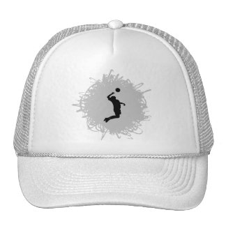 Volleyball Scribble Style (Male) Trucker Hat