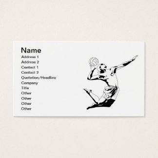 Volleyball Serve 2 Business Card