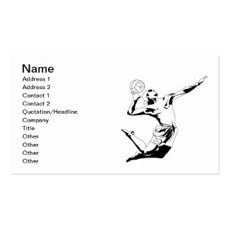 Volleyball Serve 2 Double-Sided Standard Business Cards (Pack Of 100)