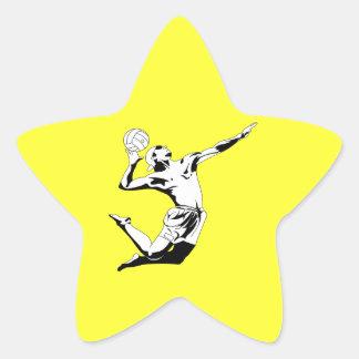 Volleyball Serve 2 Star Sticker