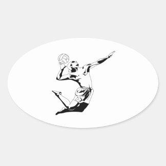 Volleyball Serve 2 Sticker