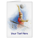 Volleyball Serve Greeting Card