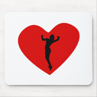 Volleyball Serve Heart Mouse Pad