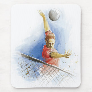 Volleyball Serve Mouse Pad