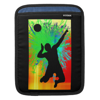 Volleyball Service Fireworks Sleeve For iPads