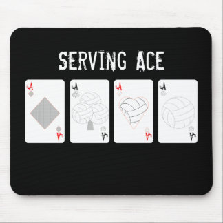 Volleyball Serving Ace Mouse Pad