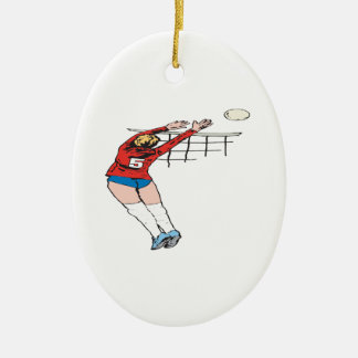 Volleyball Set 2 Christmas Ornaments