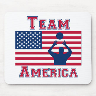 Volleyball Set American Flag Team America Mouse Pads
