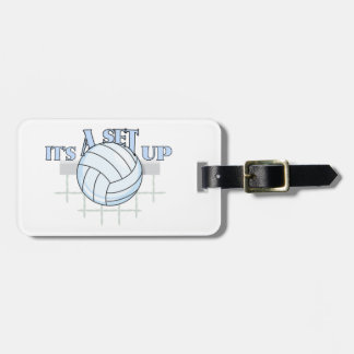 Volleyball Set Up Bag Tag