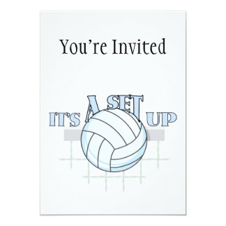Volleyball Set Up Card