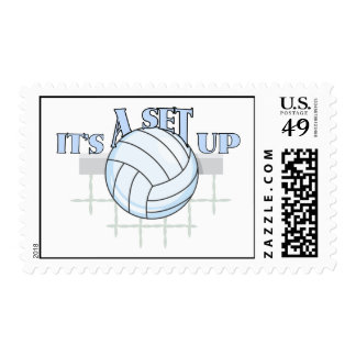 Volleyball Set Up Postage