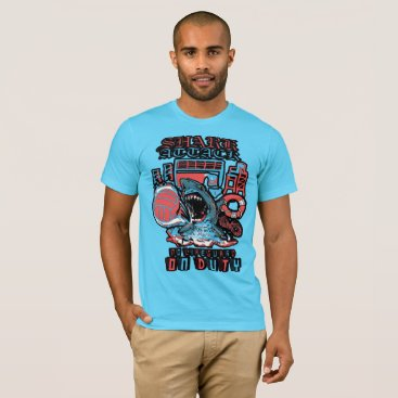 Beach Themed VolleyBall Shark Attack T-Shirt