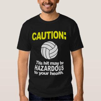 Volleyball Shirt: Caution Tee Shirt