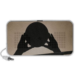 Volleyball Silhouette 2 Travel Speakers